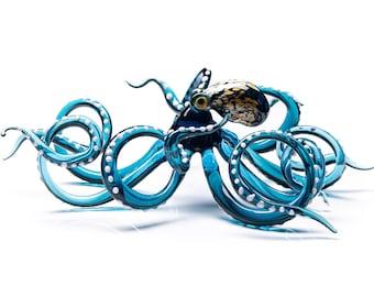 Red Glass Octopus Sculpture Kraken Cephalopod Miniature Blown Figurine  Blown Glass Octopus Glass Octopus Ocean