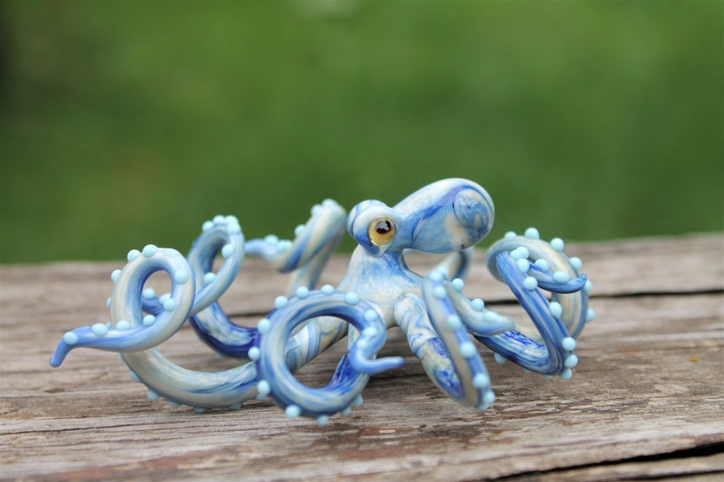 Blown Glass Octopus glass figurine Octopus Glass Ocean Octopus image 0