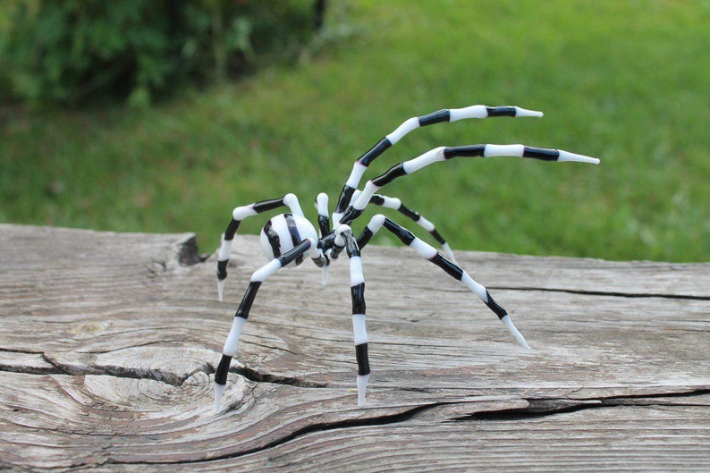 GLASS SPIDER lampwork Handcrafted Glass animal Art Glass image 0
