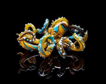 Blown Glass Octopus glass figurine Octopus Glass Ocean Octopus  Kraken Glass Octopus Figurine