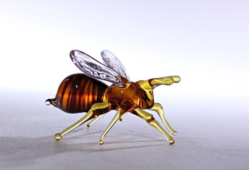 Glass Bee Blown Collectible Figurine honey bee  Animals image 0