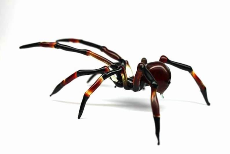 Art Glass Spider Figurine Blown Glass Spider Spider image 0
