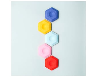 Koh-i-noor Hexagon Eraser - available in Purple, Yellow, White, Pink and Red