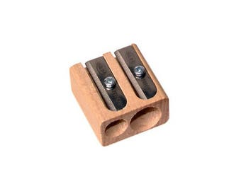 Wooden Double-Hole KUM Pencil Sharpener - Kum Sharpeners are made in Germany