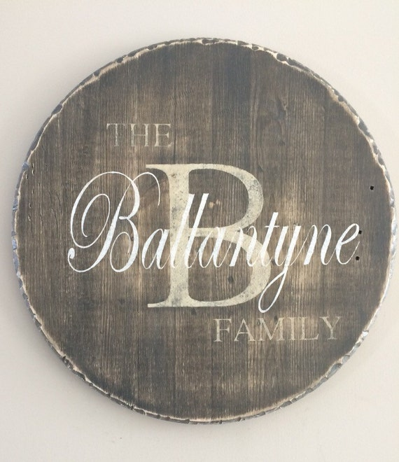 Family Monogram, Personalized Wood Sign, Family Sign