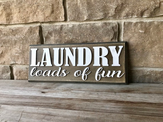 Laundry Sign, Wall hanging