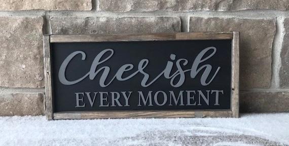 Cherish Every Moment wall hanging