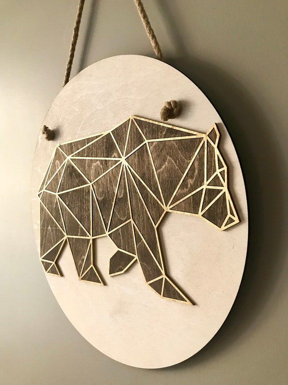Geometric Bear Wall hanging