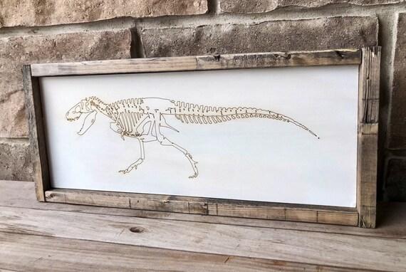 T-Rex Dinosaur Laser engraved wall hanging