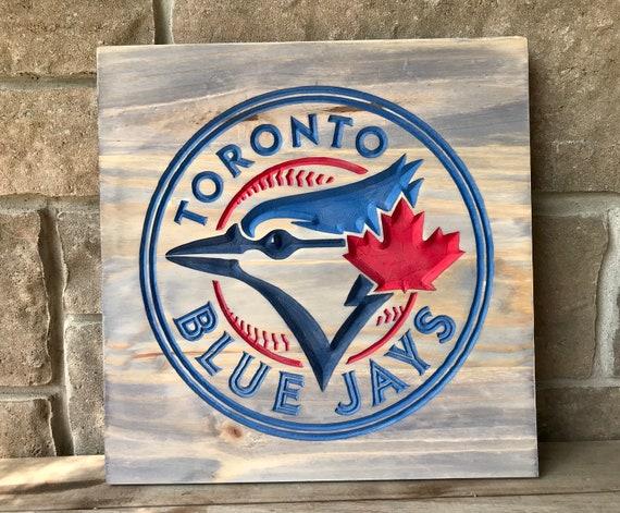Carved Blue Jays Sign