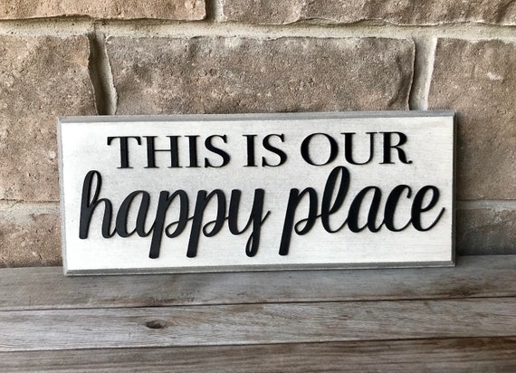 Wall hanging, This Is Our Happy Place