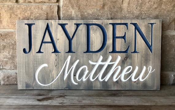Custom Carved Name Sign