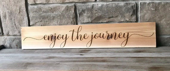 Engraved Cedar Wall hanging Enjoy the Journey