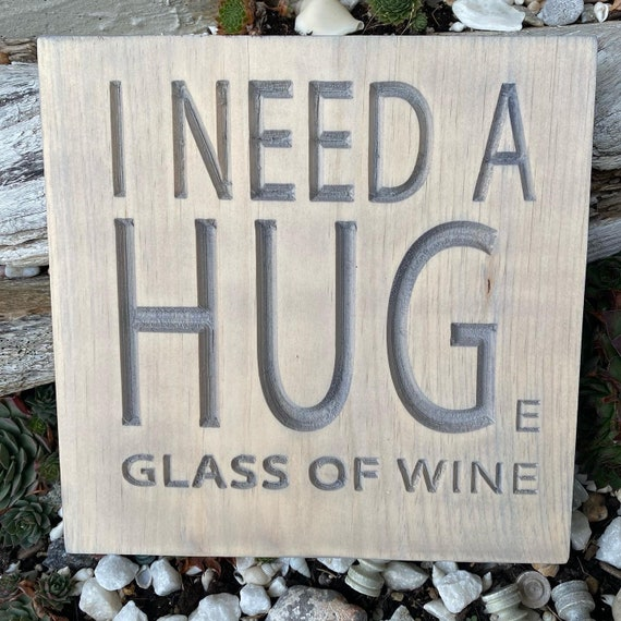 Funny Wine Carved Wood Wall Hanging