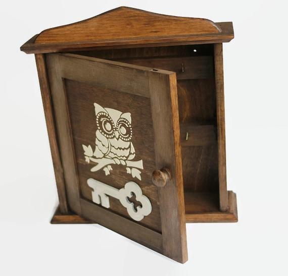 Eule Schlüssel Schrank Holz Schlüssel Halter weiße Eule Owl