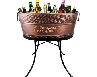 Personalized Copper Beverage Tub / Stainless Steel for Wedding Gift for Couple, Housewarming, Birthday, Anniversary, Bridal Shower Gifts
