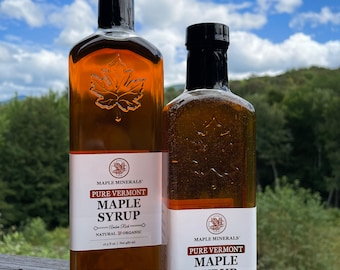 Maple Minerals Pure Vermont Maple Syrup Amber Rich