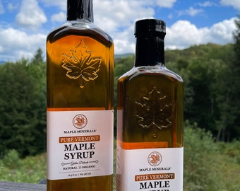 Maple Minerals Pure Vermont Maple Syrup Golden Delicate
