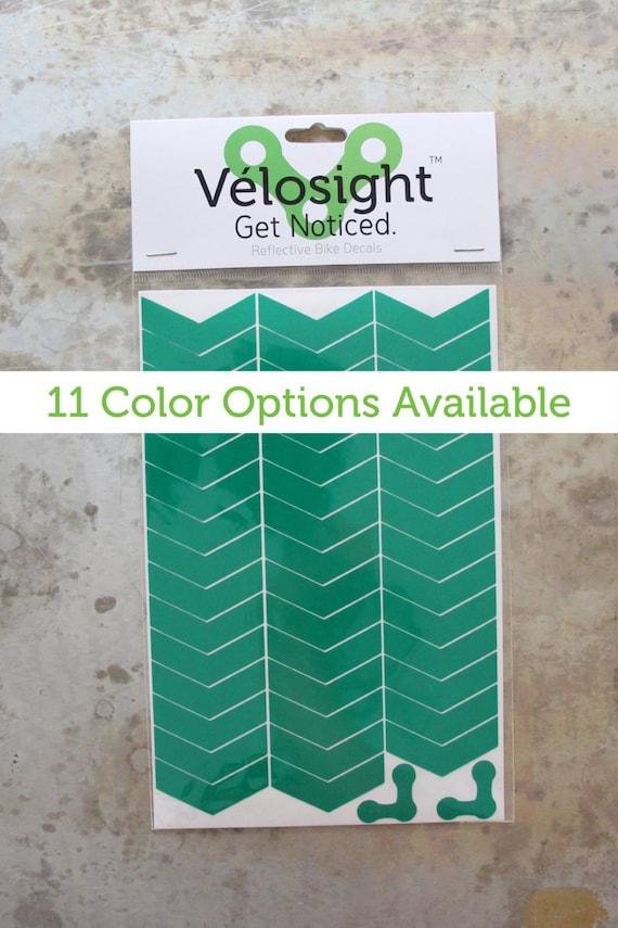 Reflective color chevron print 6 safety stickers bike helmet