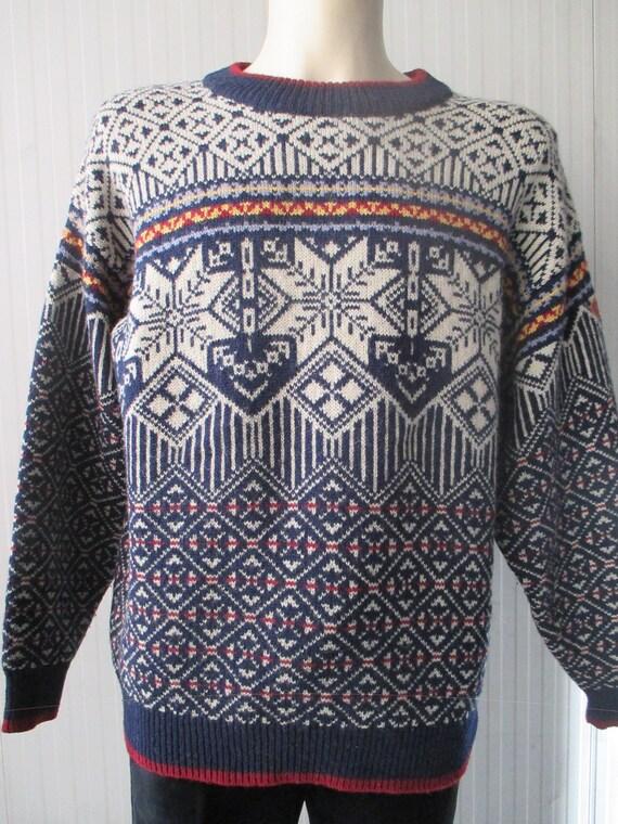 Lana suix Etsy Anni Norvegese maglione 80 pura Maglione w7xXTtHSqS