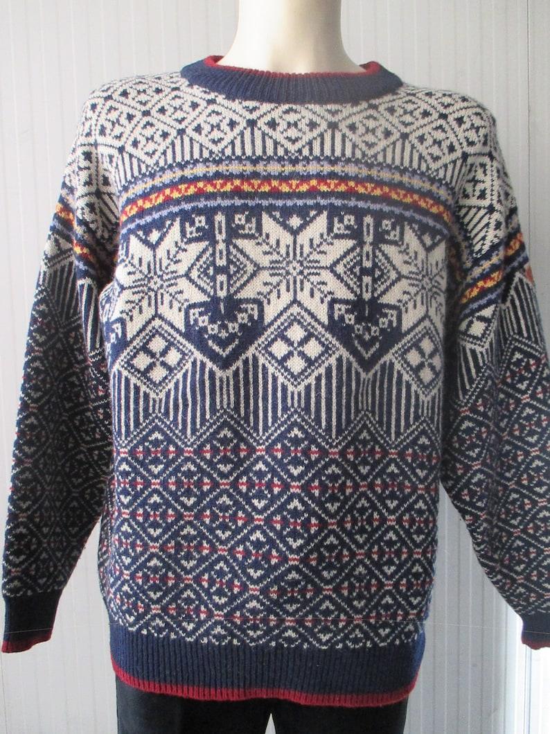 987eee4643ab 80s norwegian jumper by SWIX Typical pattern Pure wool Skiing