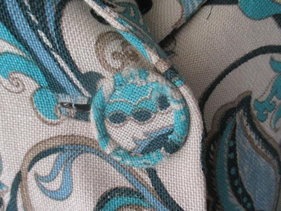 Original 60s damask pants suit/Jane Lend-Paris/Co… - image 4