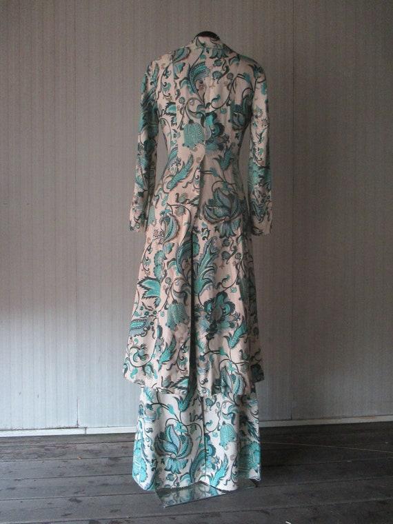 Original 60s damask pants suit/Jane Lend-Paris/Co… - image 6