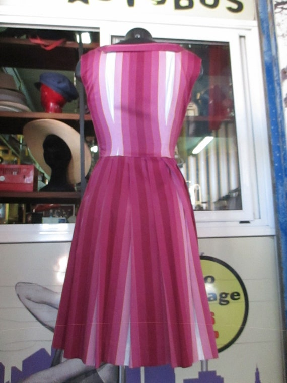50s cherry dress outfit/Pleated dress and shrug/S… - image 6