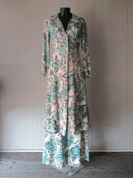 Original 60s damask pants suit/Jane Lend-Paris/Co… - image 2