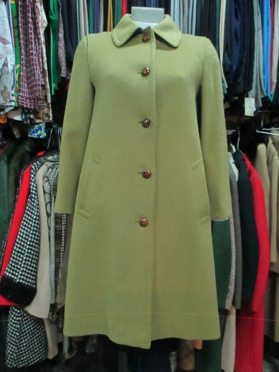 851d2ce72b9 60s classic mustard loden Pure wool Tyrol Typical buttons Back