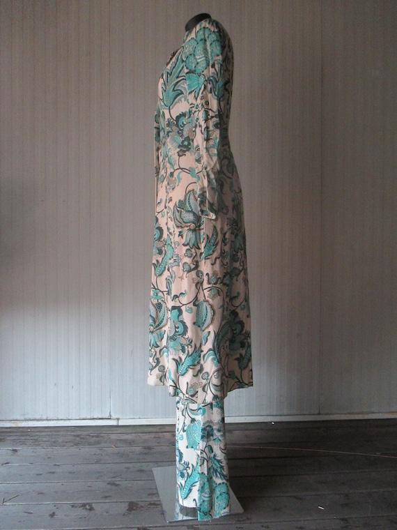 Original 60s damask pants suit/Jane Lend-Paris/Co… - image 5