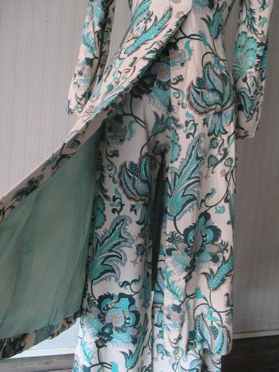 Original 60s damask pants suit/Jane Lend-Paris/Co… - image 1
