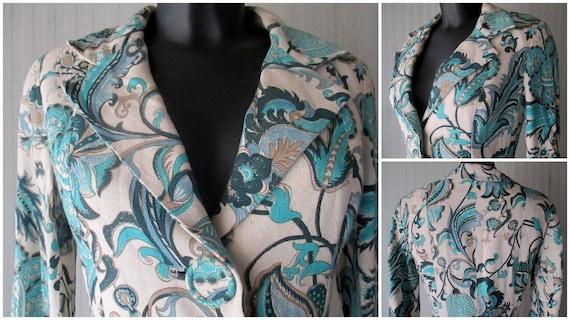 Original 60s damask pants suit/Jane Lend-Paris/Co… - image 3