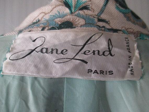 Original 60s damask pants suit/Jane Lend-Paris/Co… - image 8