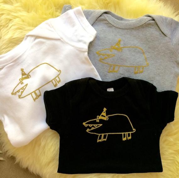 12 MO Baby Onesie Orange Gift Animal Baby Clothes Funny Mole In The Hole Party Mole 6 MO 24 MO Orange Gold Unisex Baby Gift