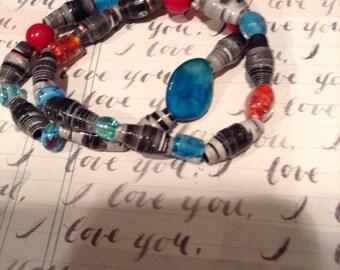 Elvis Remembered Recycled Book Bracelet