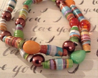 The Princess and The Pea Recycled Book Bracelet