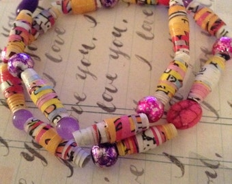 Clifford's First Valentine's Day Recycled Book Bracelet