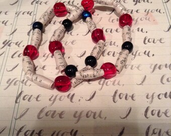 50 Shades of Grey Recycled Book Bracelet