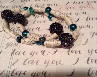 Twilight Recycled Book Bracelet