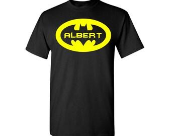 Personalized Batman t-shirt - Custom Batman Shirt with Name - Batman Logo with Name t-shirt - Batman Logo shirt