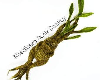 Needle felted Mandrake Mandragora