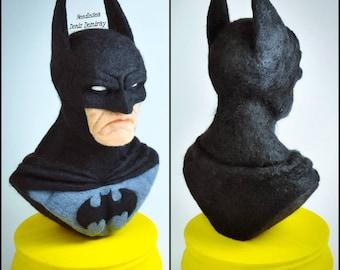 Needle felted super hero Batman