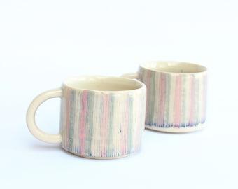 Hand Painted Espresso Mug handmade in Devon