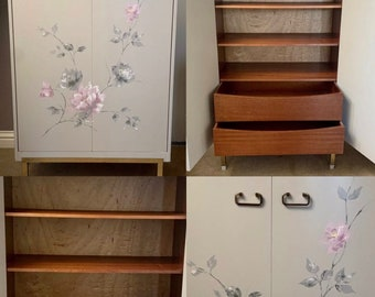 Beautiful G Plan Cabinet Designed By The Grange Of London with Floral Decor