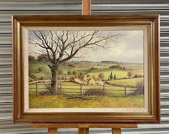 Beautiful Original Oil Painting By Stanley Anderson Of Nether Worton, Cotswolds