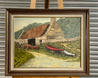 Original Oil Painting Of Martin's Haven, Pembrokeshire By Norman Douglas Hughes