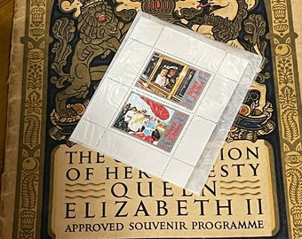The Coronation Of Her Majesty The Queen Booklet with Two Silver Jubilee Stamps.