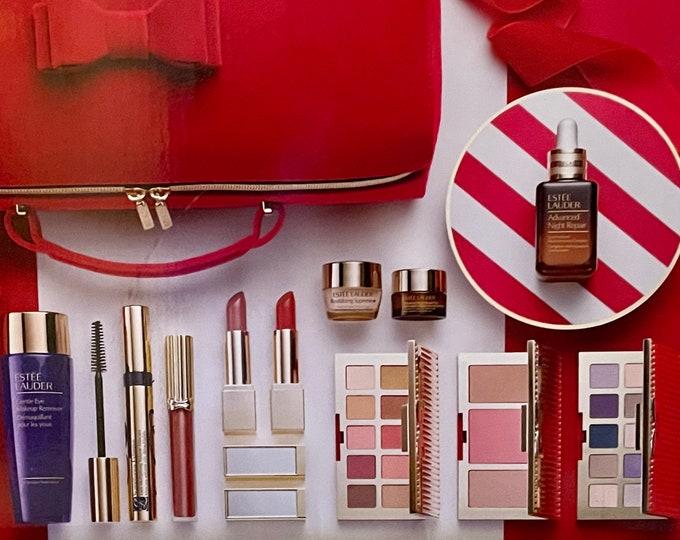 Estee Lauder Blockbuster Makeup Set With Deluxe Red Case