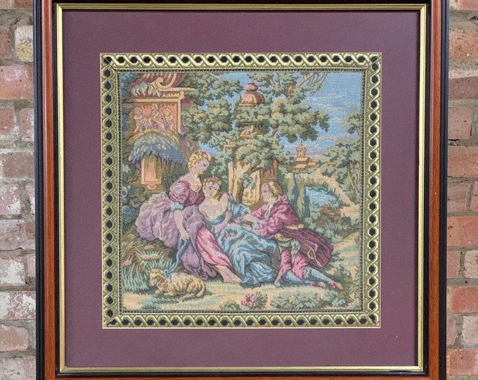 Wonderful Framed & Glazed Quality 18th Century Style Tapestry